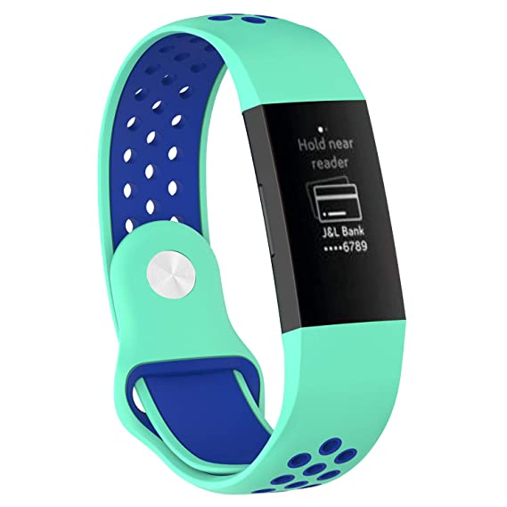 Amazon com: Large Fitbit Charge 3 Bands, Soft TPU Silicone