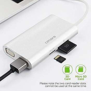 Omars 8-in-1 Ethernet Gigabit Adapter USB-C Hub