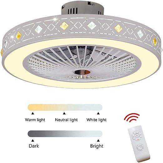 LAZ Ventilador de Techo con luz LED Invisible, Montaje Empotrado ...