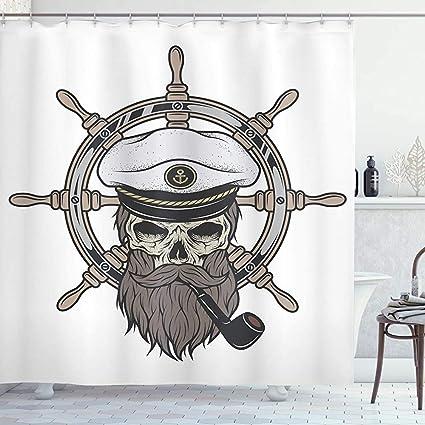 acheter rideau de douche tete de mort online 12