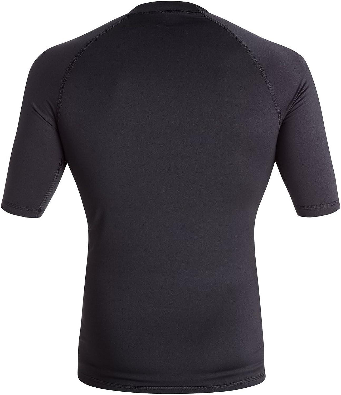 Quiksilver Mens All Time Short Sleeve Rashguard Swim Shirt UPF 50+