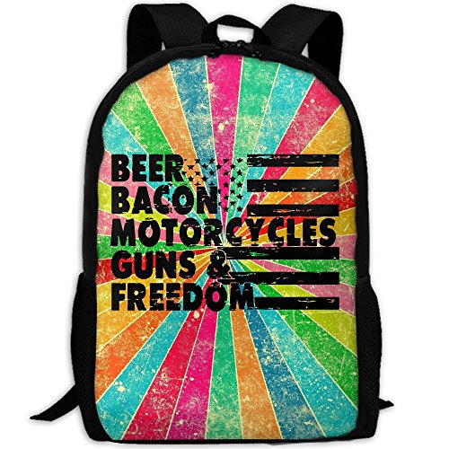 Beer Bacon Guns And Freedom Interest Print Custom Unique Casual Backpack School Bag Travel Daypack - Bacon Sunglasses