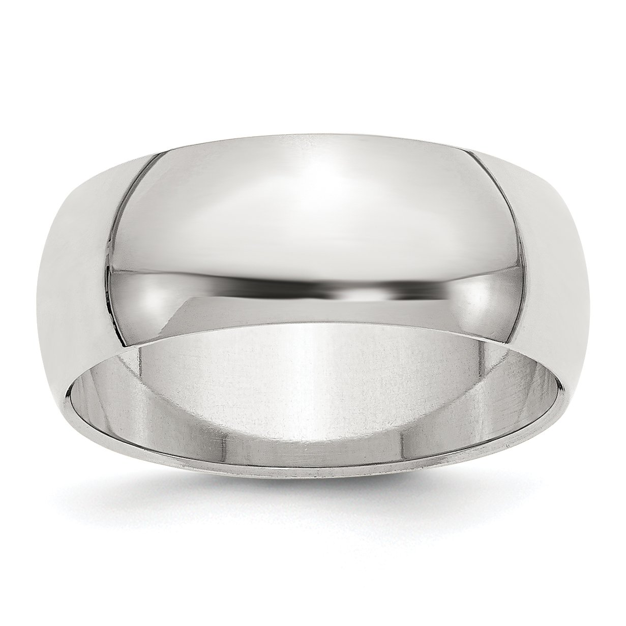Solid 925 Sterling Silver 8mm Wedding Band Ring