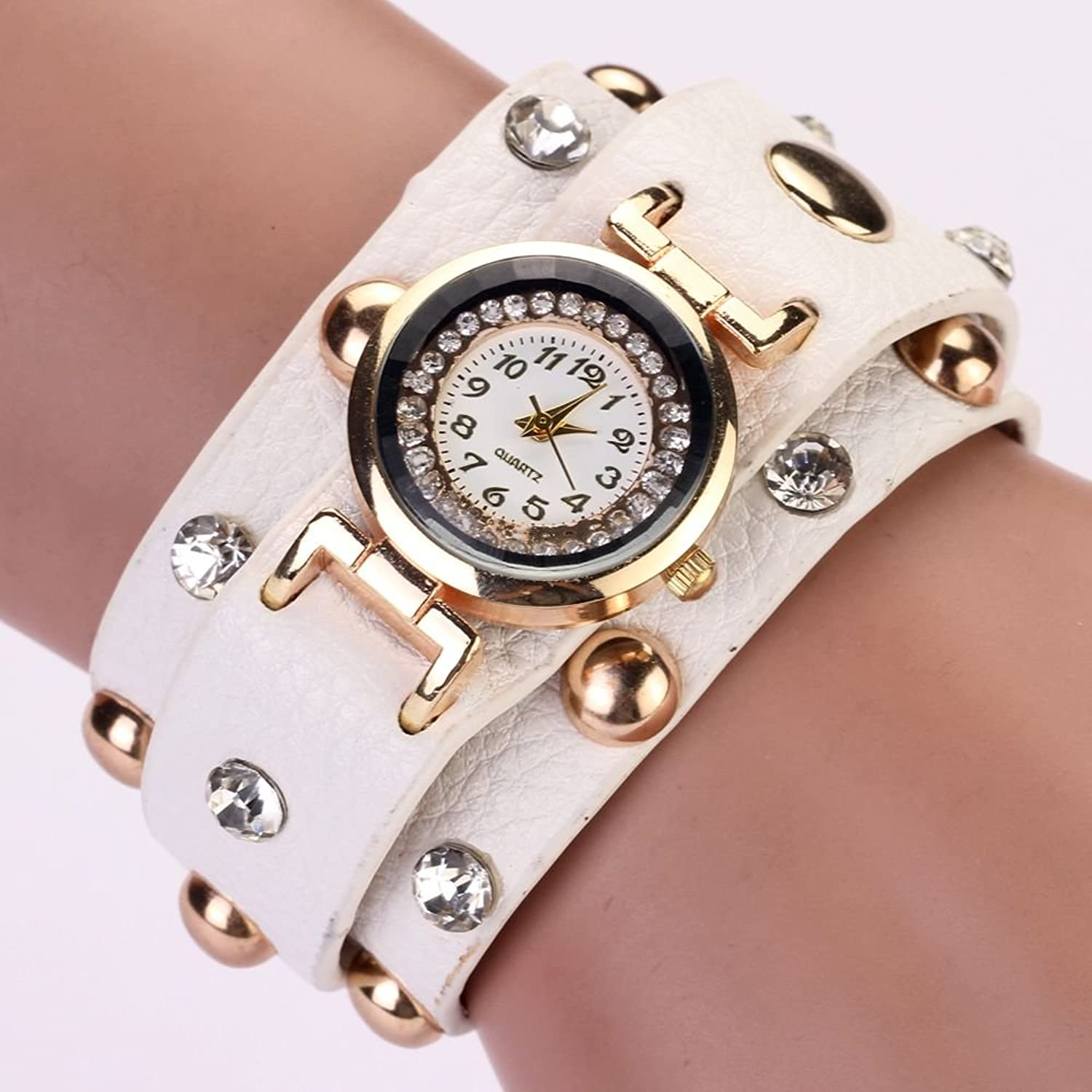 Amazon.com: Zopho (TM) 77 Fashion Fashion Casual PU Leather Bracelet Wristwatch Watch Women Reloj Mujer Relogios Femininos Watch XR526: Jewelry