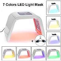 Fotontherapie met ledverlichting, 7 kleuren, lichtbehandeling, masker, schoonheid, lichttherapie, gezichtsmasker…