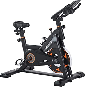 SND Magnetic Resistance Whisper Quiet Indoor Cycling Bike Stationary -Cycle Bike with Tablet Holder&Comfortable Seat Cushion