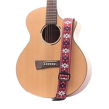 dohot Nacional Patrón Correa para guitarra con cabeza atada cuerda para guitarra acústica, Clásica, eléctrica y bajo guitarras, Pattern 5: Amazon.es: ...