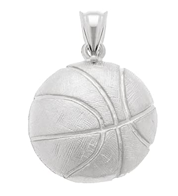 Amazon com: US Jewels And Gems 0 925 Sterling Silver Basketball Ball