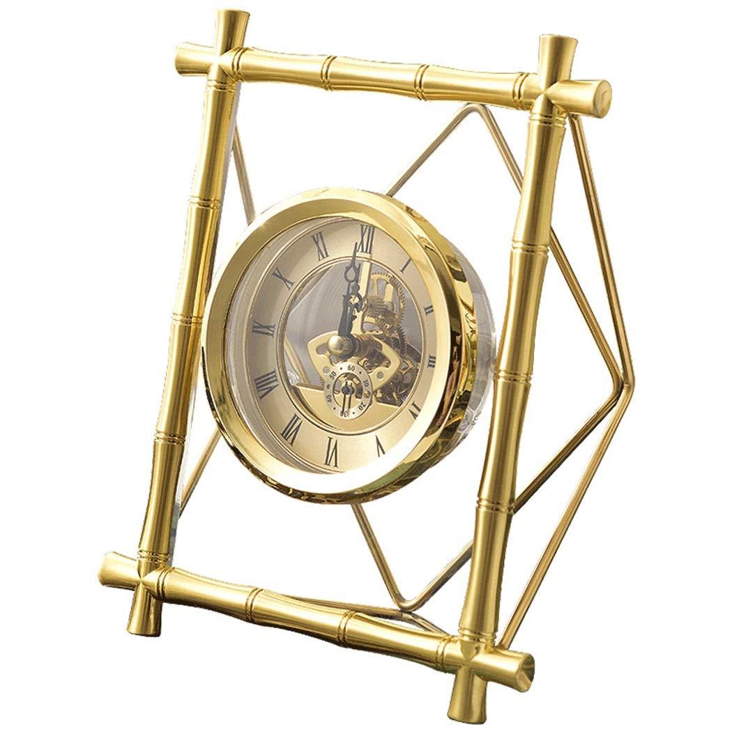 HONGNA Table Gear Rotating Clock Clock Seat Living Room Bedroom Clock Decoration Creative Retro Table Clock Titanium Body (Size : 17227.5cm) by HONGNA (Image #1)