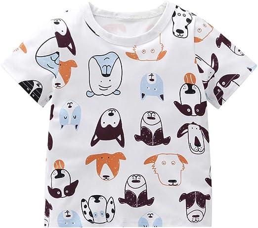 Cow Cartoon Kid/'s T-Shirt Children Boys Girls Unisex Top