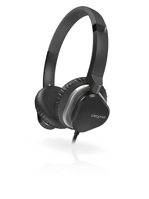Creative Hitz MA2400 - Auriculares de diadema cerrados (con micrófono), negro: Amazon.es: Electrónica