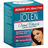 Jolen Creme Bleach Sensitive Formula Plus Aloe Vera 1oz.(pack of 6)