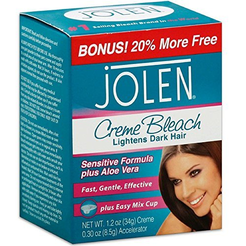 Jolen Creme Bleach Sensitive Formula Plus Aloe Vera 1oz. (Pack of 3) (Best Facial Hair Bleach For Sensitive Skin)