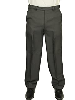 10fe40da5f525 Carabou Mens Trouser Flat Front in Steel Grey Colour EXPANDABAND SELF  Adjustable