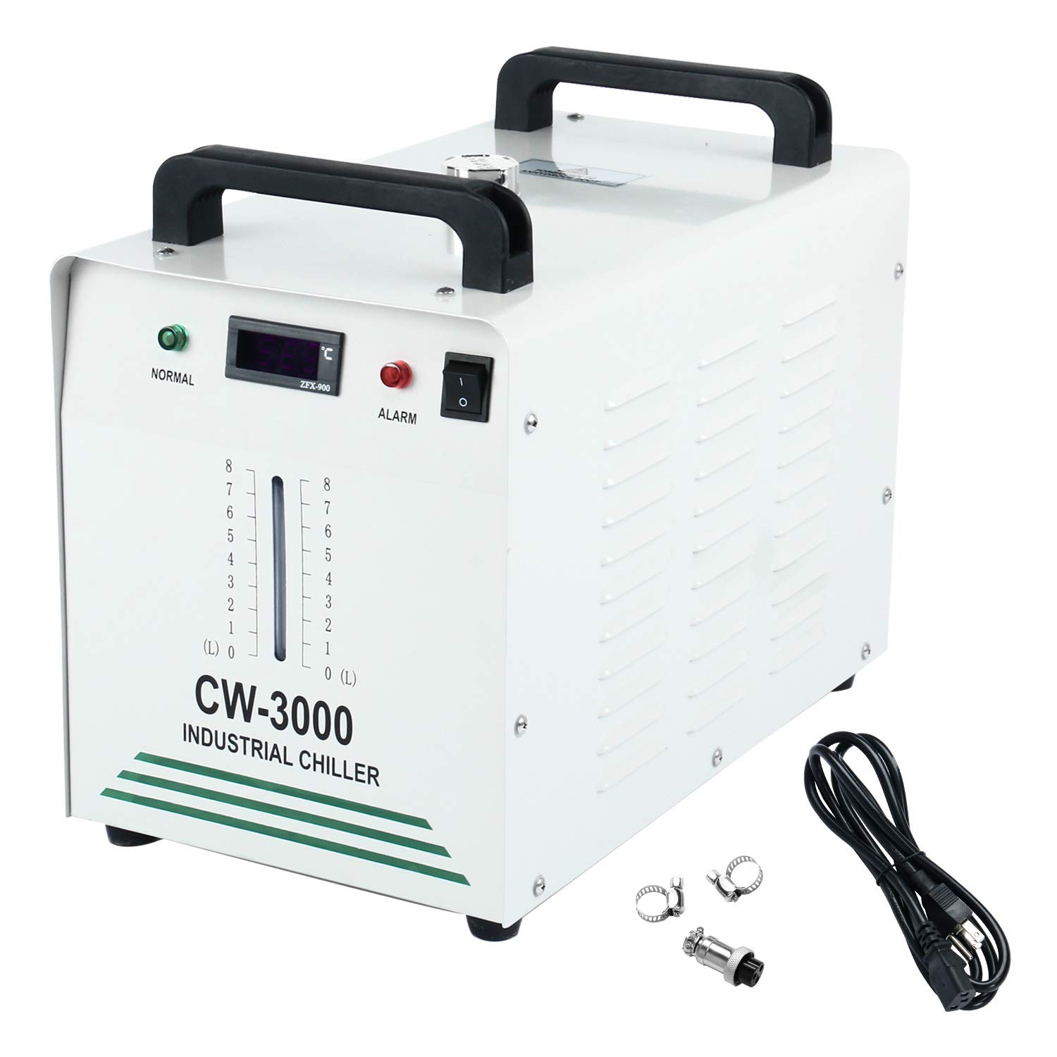 Homend 110V Water Chiller Industrial Water Chiller 9L Capacity CW-3000 Thermolysis Type Industrial Water Cooling Chiller for 60W 80W Laser Engraving Machine