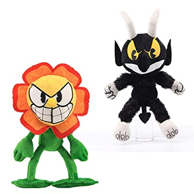 Moovi 2 PCS/Set Cuphead Cagney&The Devil Plush Figures: Toys & Games