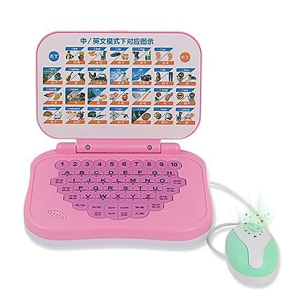 Joyibay Juguete Portátil para Niños Computadora de Aprendizaje Inglés Chino Interactivo Máquina de Aprendizaje con el