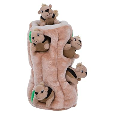 Outward Hound Hide-A-Squirrel Puzzle Plush Squeaking Toys Dogs