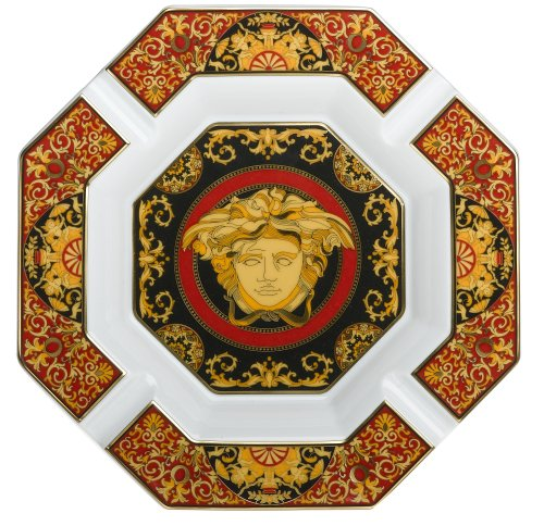Versace by Rosenthal Medusa Red 9-Inch Cigar Ashtray by Rosenthal