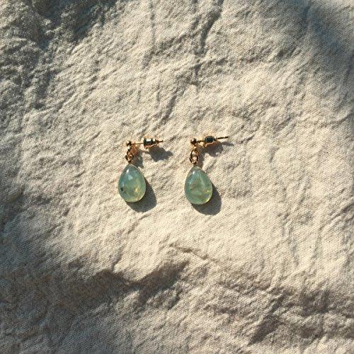 TKHNE Handmade natural volume | gentle intellectual goddess cold jade earrings ear hook earrings ear ()