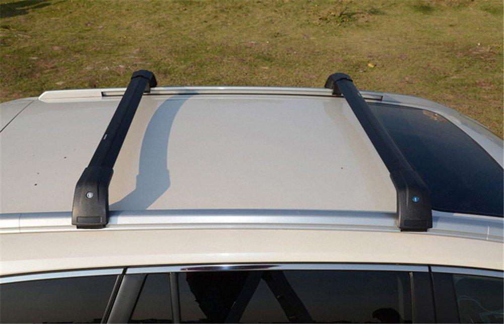 Chebay Fits for Outlander 2013-2018 Crossbar Cross Bar Roof Rail Lockable Black
