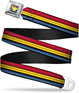 Buckle Down mens Buckle-Down Seatbelt Belt Captain Marvel WMC064