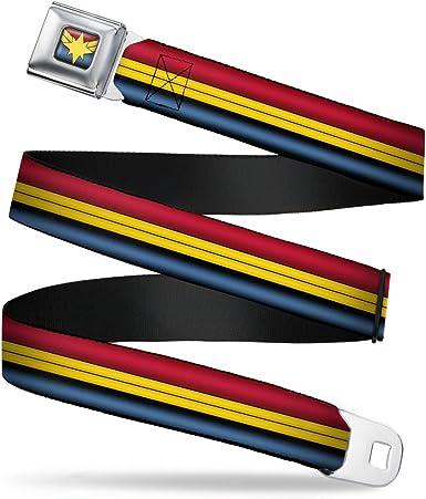 20-36 Inches in Length GRYFFINDOR//Crest Stripe Gold//Red 1.0 Wide Buckle-Down Seatbelt Belt