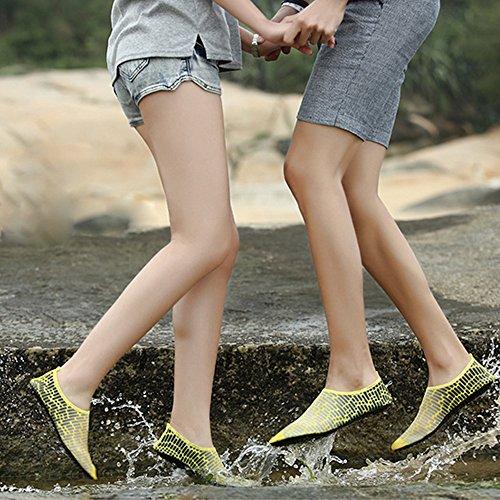 XINYI Aqua playa nadar zapatos de agua de secado rápido Slip On Piel Zapatos de Yoga calcetines para Unisex, tela, negro 1, 3XL43-44 negro 1