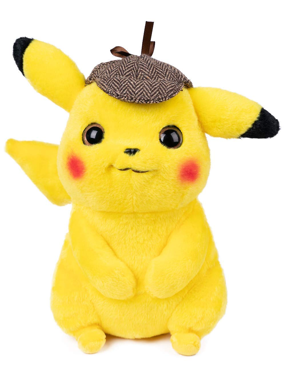 Detective Pikachu Plush Stuffed Animal Toy - 9.5'' (Not Vacuum Packed ) by Vabao
