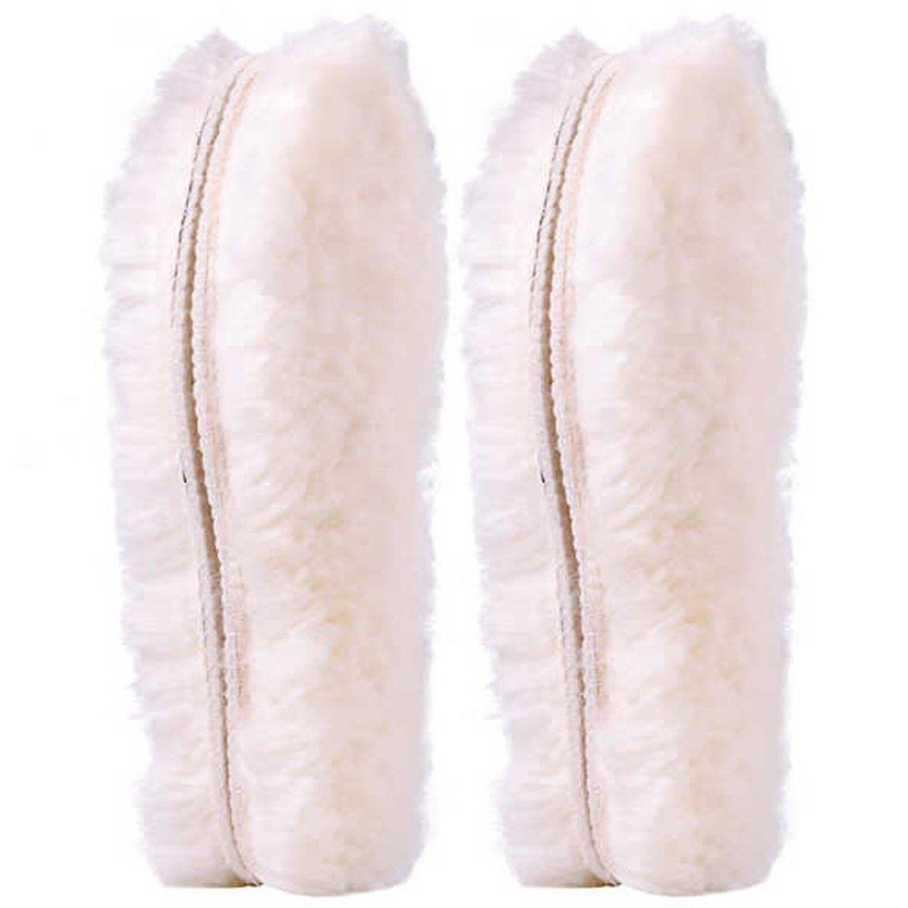 [ 2 Paar ]Australischen Schaffell Einlegesohlen Super Dick Premium fur Stiefel Schuhe| Robust & Extra flauschige Premium Schafwolle Einlegesohlen