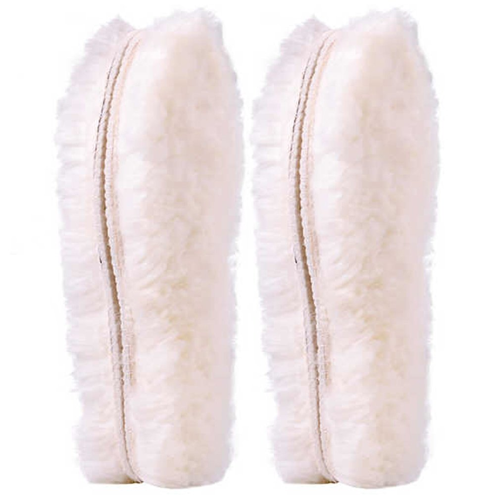[2 Pair]REAL Pure Sheepskin Luxury Insoles Sheepskin Lambswool Blended Shoe Insoles | Durable & Fluffy Perfect for Flat ([2-Pairs]US 10)