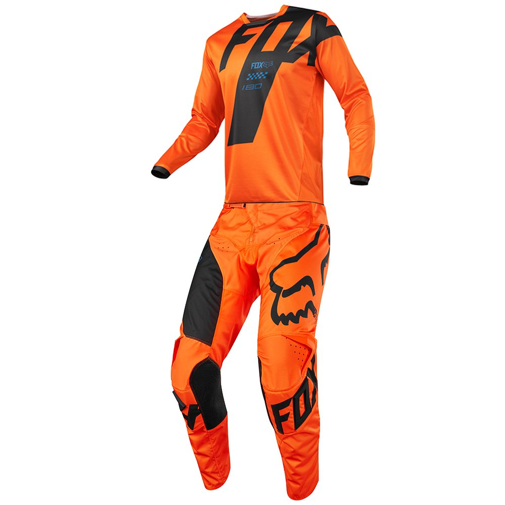 Fox Racing - (Youth) 180 Mastar Orange Jersey/Pant Combo - Size Y-LARGE/28W