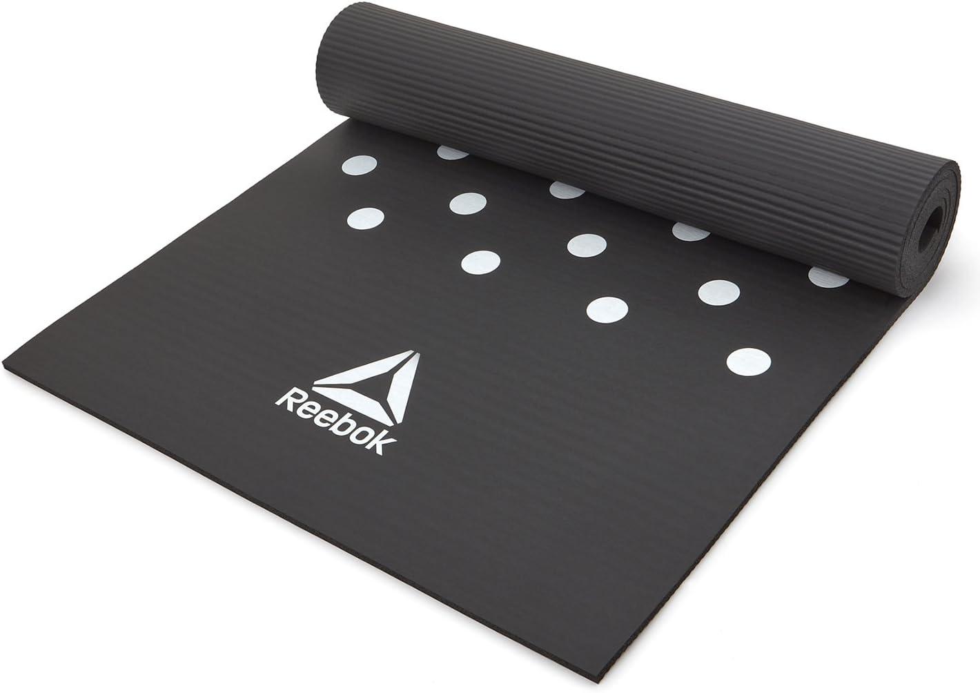 Amazon.com: Reebok Esterilla de entrenamiento, color negro ...