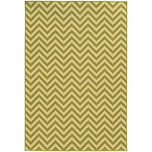 (Oriental Weavers 4593K Riviera Area Rug, 8-Feet 6-Inch by 13-Feet, Green/Ivory)
