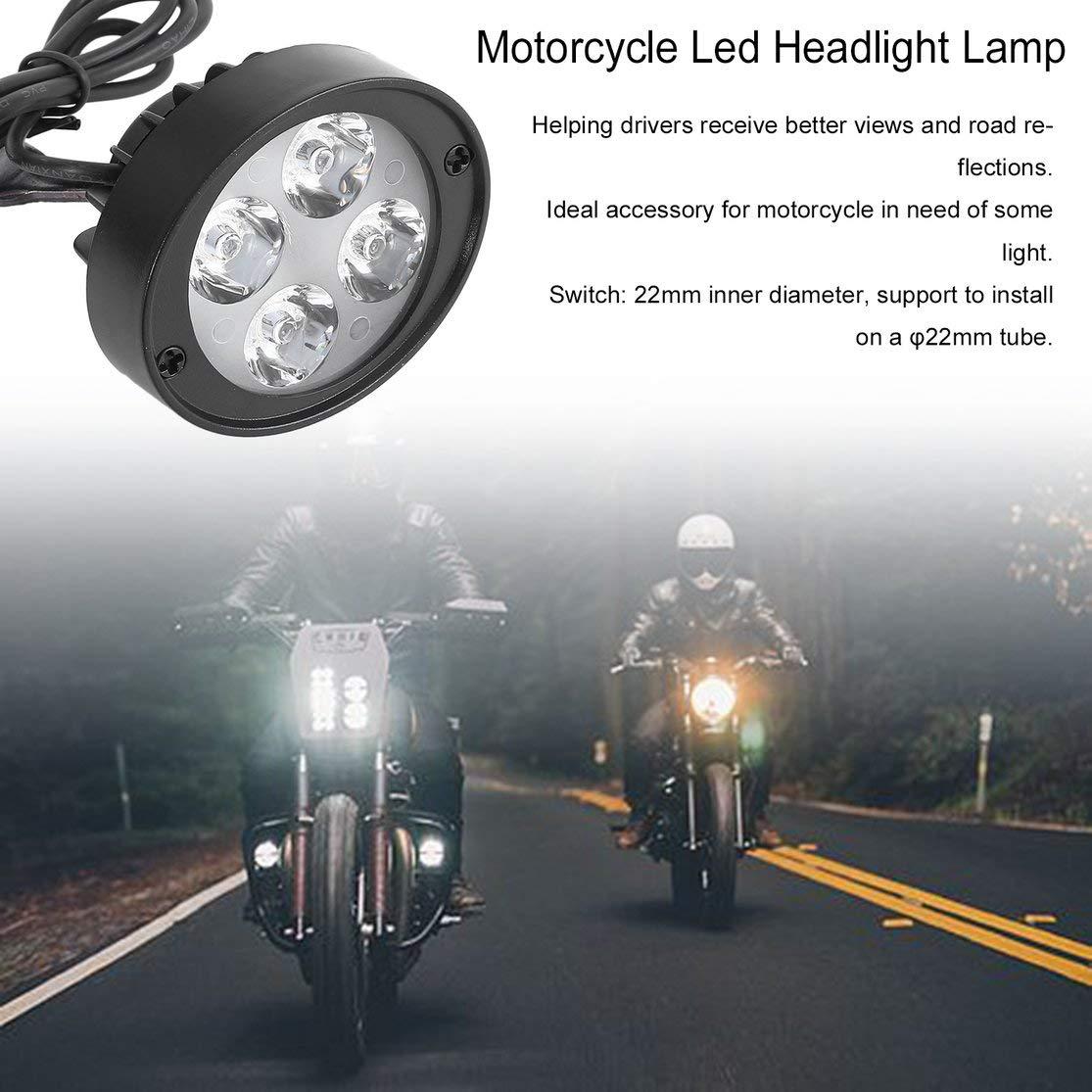 Candyboom Super Clear 1000Lm Motorrad Led Scheinwerfer Lampe Roller Lokomotive Nebelscheinwerfer Super Light Assist R/ückspiegel Licht