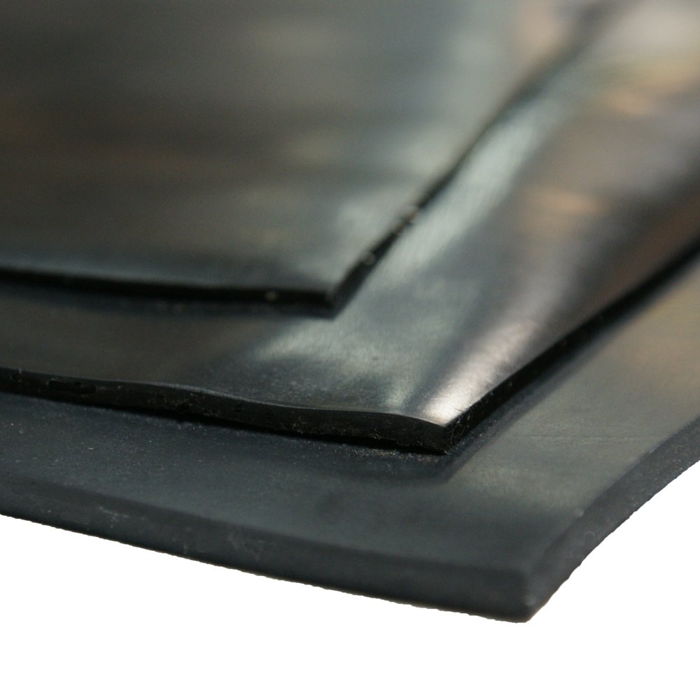 70A Cloth Inserted SBR Black 3//16 Thick Rubber Sheet 8 Width x 8 Length 3 Pack