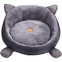Ksweet Comfort Plüsch Katzenbett Rund aus Tier-Shape Leicht Haustierbett Kissen Katzenkorb für Katzen Bett Waschbar