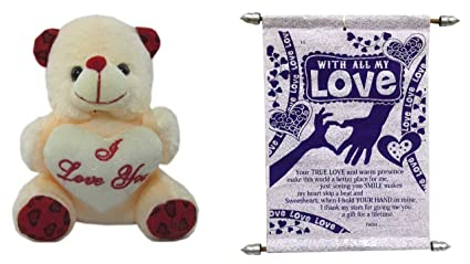 Teddy bear soft toy I love you and love you Expressing Love for boy friend   75f5c357aa