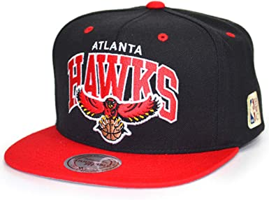 Mitchell & Ness Gorras Atlanta Hawks Team Arch Black/Red Snapback ...