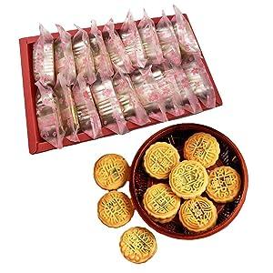 OUYANGHENGZHI Mooncake Chinese Traditional Mini-Mooncake 9-Flavor Moon Cake Gift Box for Afternoon Tea Dessert 18PCS