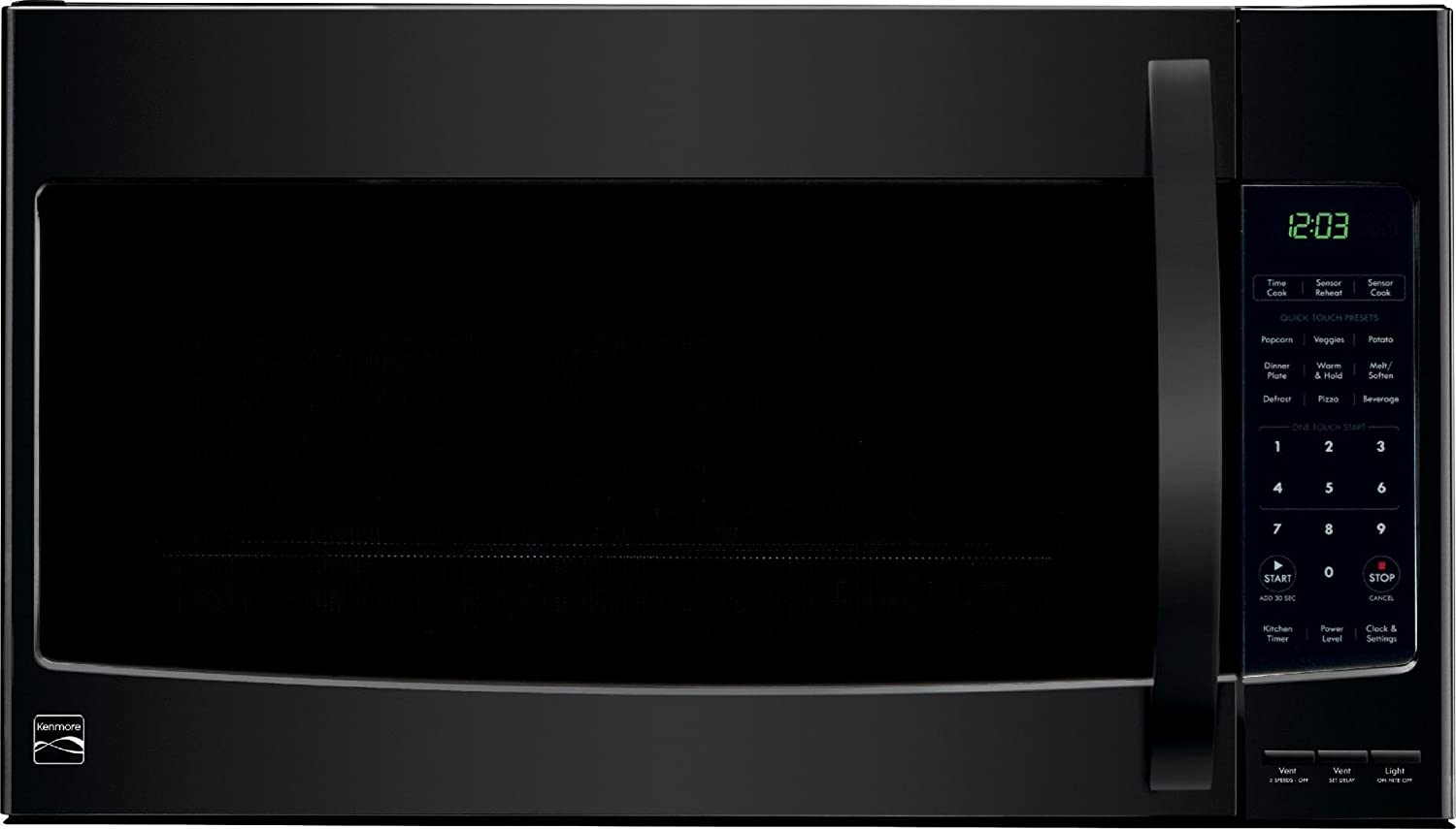 Kenmore Over the Range Microwave Hood Combination Oven 2.1 Cu. Ft. 1000 Watts Black 80359