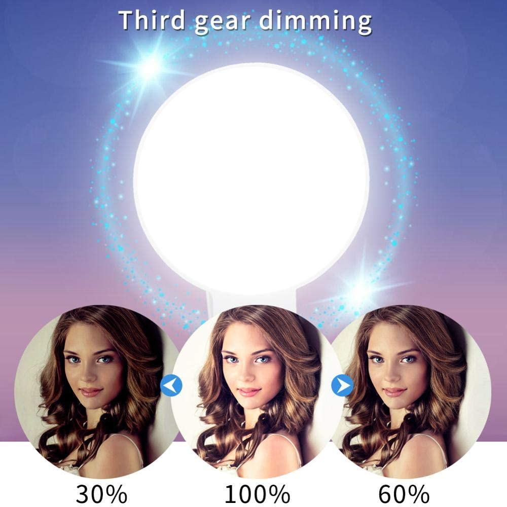 Selfie Light Selfie Ring Light Ring Light for iPhone with 9 Lamp Bbeads USB Rechargeable Portable(Black)