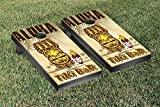 Tiki Bar Aloha Cornhole Game Set
