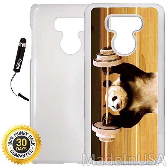 Amazoncom Custom Lg G6 Case Panda Lifting Weights Edge To Edge