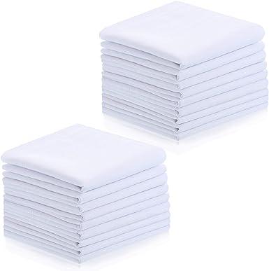 Pañuelos de Hombre Pañuelos Cuadrados Blancos de Bolsillo de ...