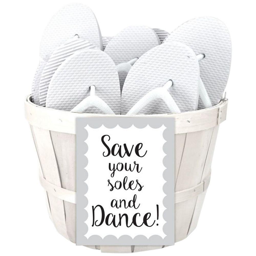 f920516d4 Amazon.com: Wedding Flip Flop Favors Set of 6 Style 6830000, White: Health  & Personal Care