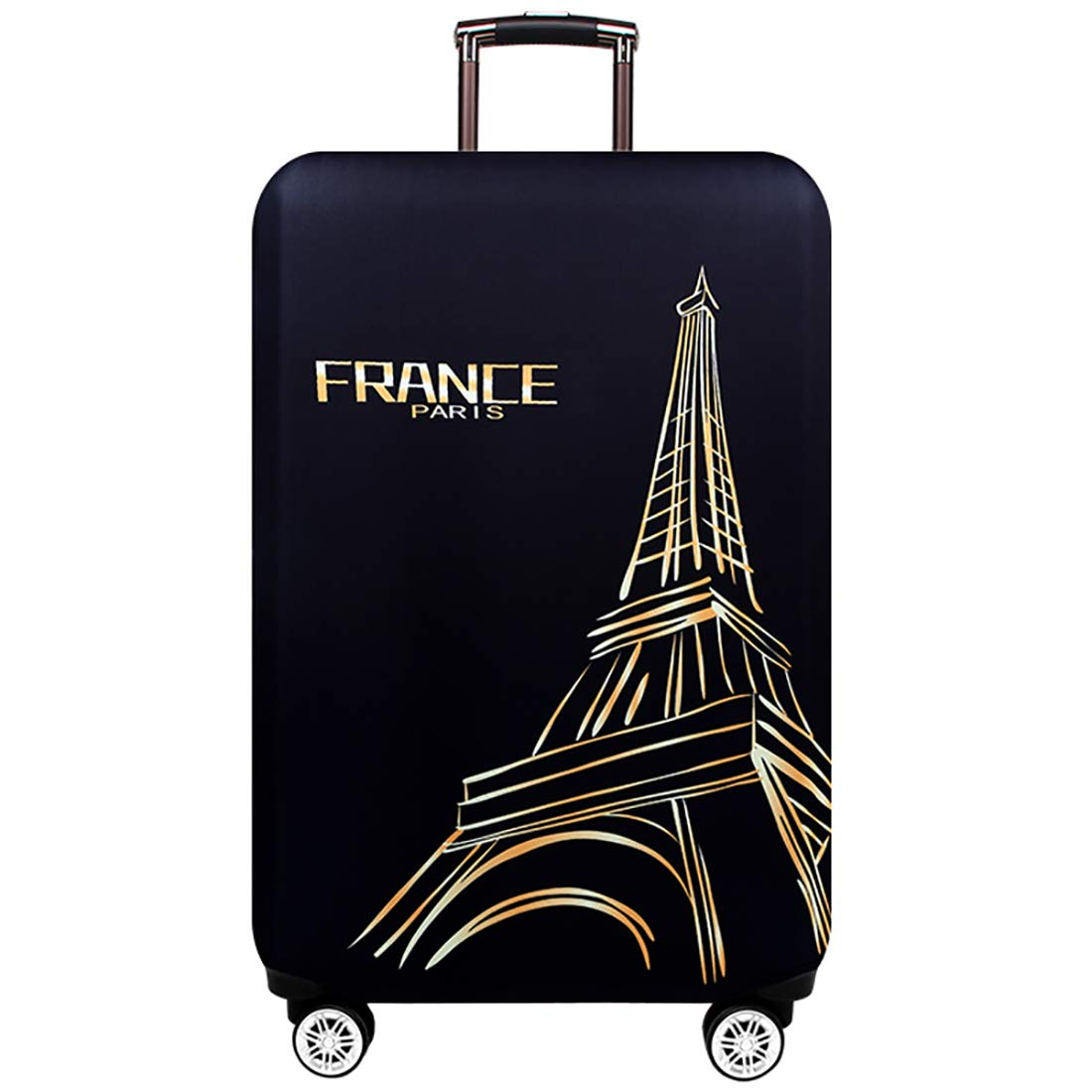 TRAVELKIN Washable Travel Gear Cover, Thickened Luggage Cover, 18/24/28/32 Inch Suitcase Spandex Protective Cover (XL(29''-32''luggage), Paris) by TRAVEL KIN