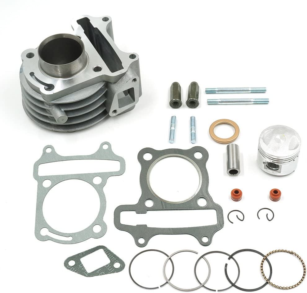 Glixal ATMT1-002 GY6 49cc 50cc 39mm Cylinder Kit Piston Rings Chinese QMB139 139QMA Engine Rebuild Kit Scooter Moped ATV