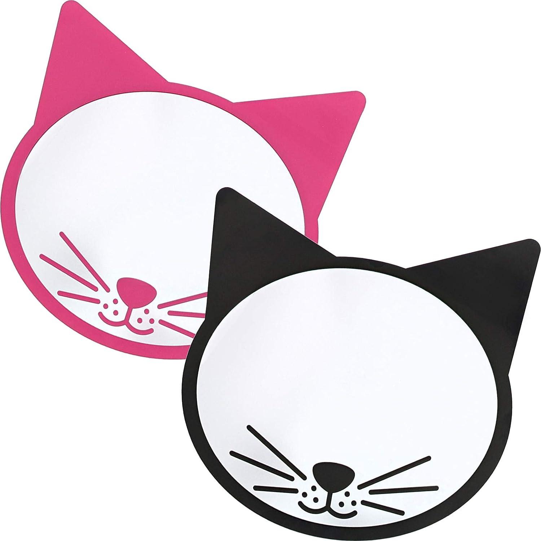 Magnetic Locker Mirrors 2 Pack , 2 Cat Designs