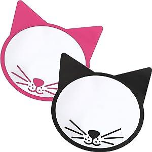 Magnetic Locker Mirrors (2 Pack), 2 Cat Designs